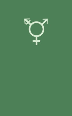 Gender icon on green background