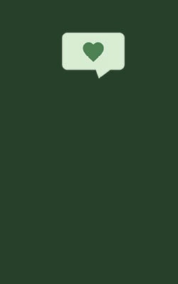 social media icon on a green background